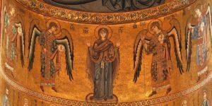 4 archanges Mosaico_della_Cattedrale_di_Cefalù 1