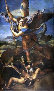 Archange Michel ou Michaël terrassant le démon par Raphaël 1