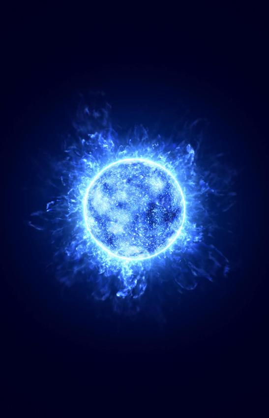 Energie de l'étoile bleue